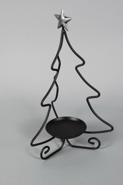1015: Longaberger Wrought Iron Tree Candle Holder