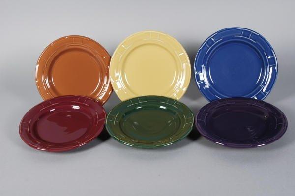 1019: 6 Longaberger Pottery Bread & Butter Plates