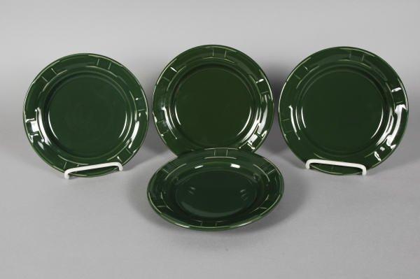 1020: 4 Longaberger Ivy Pottery Bread & Butter Plates
