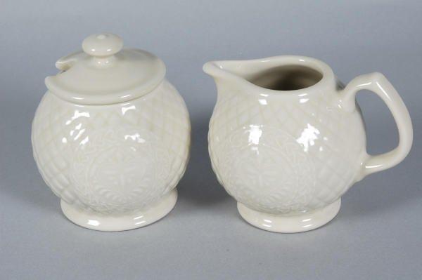 1024: Longaberger ACO Pottery Club Cream & Sugar