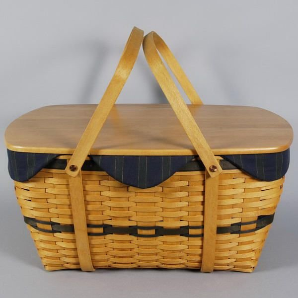 1584: Longaberger Basket 1999 CC Family Picnic Full Set