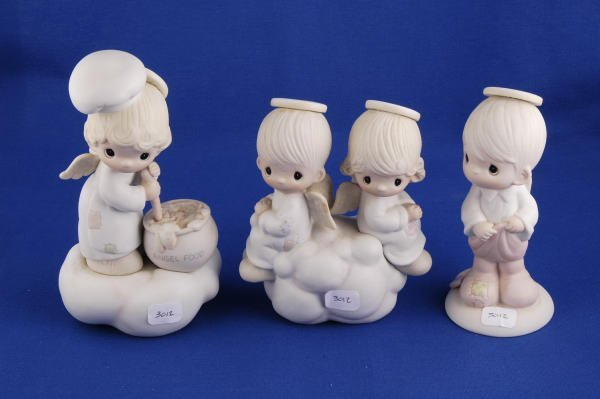 3012: 3 Precious Moments Figurines Angels E-9274 E-3115