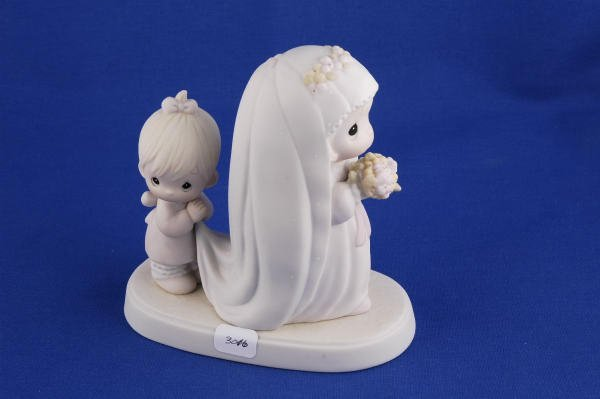 3016: Precious Moments Figurine God Bless the Bride