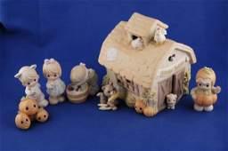 3680: Precious Moments Figurine Fall Festival 7 Pc. Set