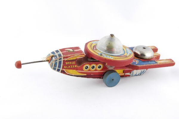 1003: 1953 Fisher Price Space Blazer #750 Pull Toy