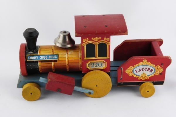 1008: 1953 Fisher Price Looky Chug-Chug Train #220