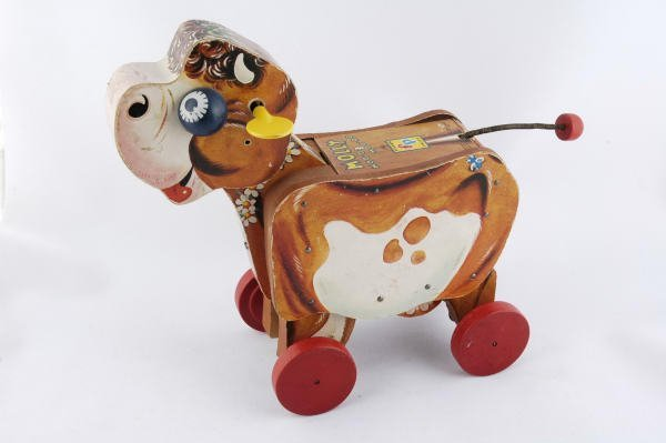 1009: 1956 Fisher Price Molly Moo-Moo Cow #190 Pull Toy - 2