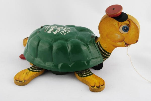 1014: 1953 Fisher Price Timmy Turtle #150 Pull Toy
