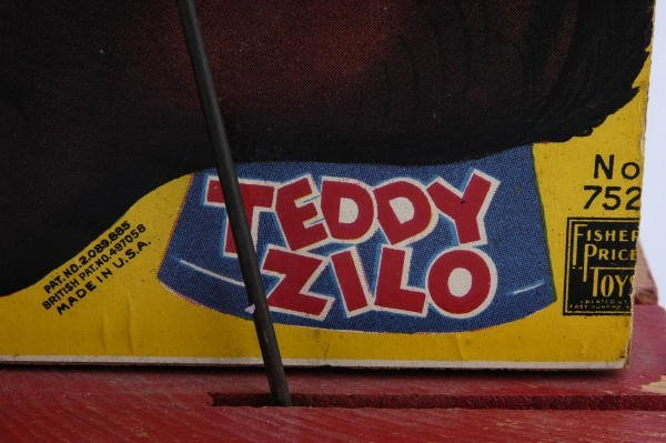 1019: 1946 Fisher Price Teddy Xylophone #752  Pull Toy - 3