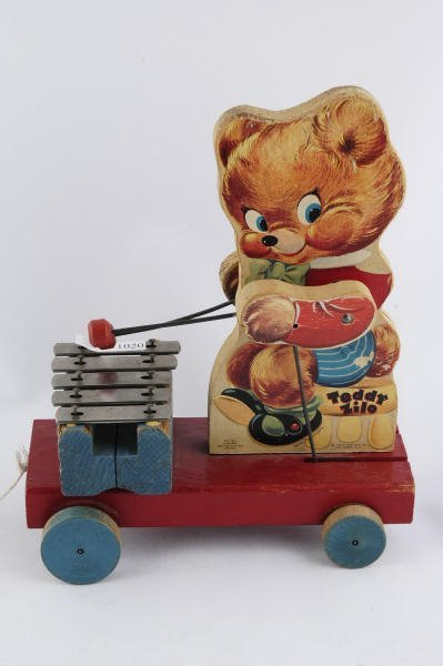 1020: 1950 Fisher Price Teddy Bear Zilo #777 Pull Toy