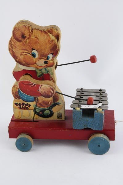1020: 1950 Fisher Price Teddy Bear Zilo #777 Pull Toy - 2