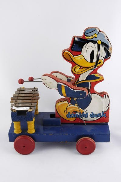 1021: 1938 Fisher Price Donald Duck Xylophone #185