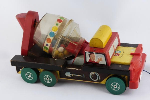 1023: 1959 Fisher Price Concrete Mixer Truck #926