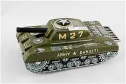 1150 Army Tank Sparks Tin Litho Friction Utaka Japan