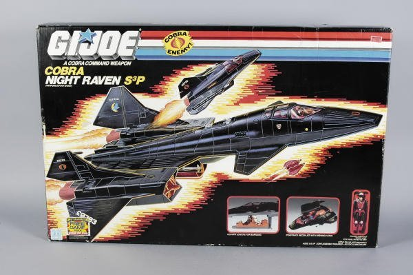 1502: GI Joe Hasbro Cobra Night Raven S3P & Recon Jet