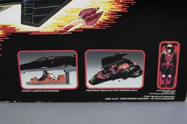 1502: GI Joe Hasbro Cobra Night Raven S3P & Recon Jet - 2