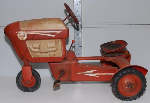 1519: Vintage AMF Red Pedal Car Tractor - 2