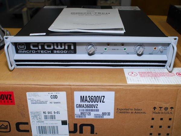 1637: Crown Macro-Tech 3600VZ Pro Power Amplifier