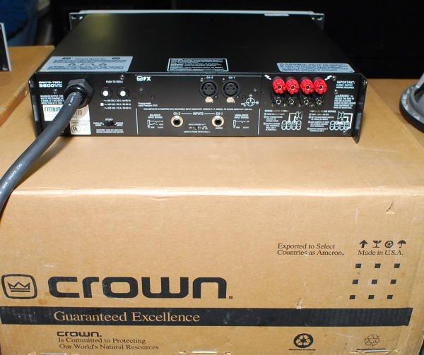 1637: Crown Macro-Tech 3600VZ Pro Power Amplifier - 2