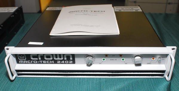 1640: Crown Macro-Tech 2402 Pro Power Amplifier
