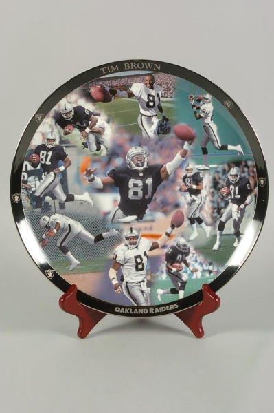 1: Oakland Raiders Tim Brown Danbury Mint Ltd. Plate