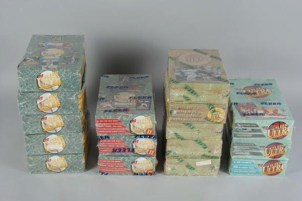 7: 16 Boxes Fleer Ultra Baseball & Basketball Cards