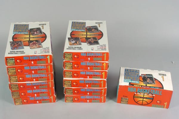 12: 13 Boxes of 1993-94 Topps Stadium Club NBA Cards
