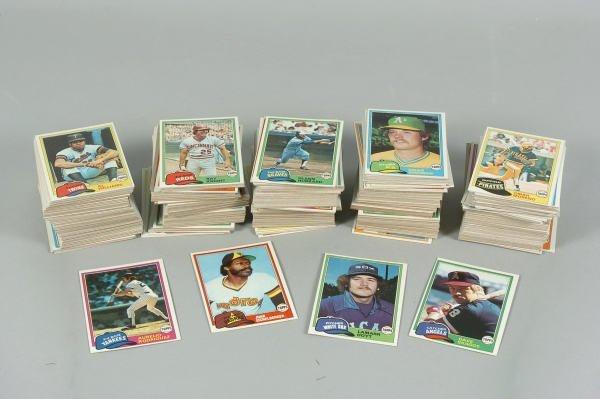 13: Box of 1981 Topps Baseball Cards