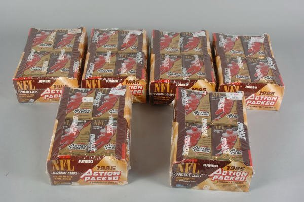 14: 6 Boxes of 1995 Pinnacle Jumbo NFL Cards