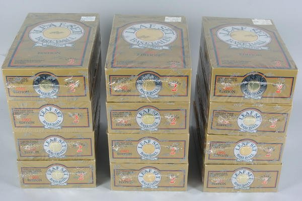 15: 12 Boxes of 1992 Leaf Gold Edition Baseball Cards