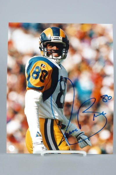 19: Rams Isaac Bruce Autographed 8x10 Photo