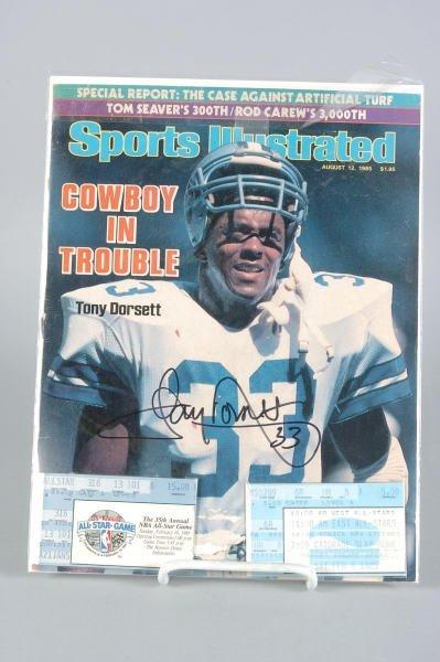 20: Tony Dorsett & Ken Norton Autographed SI Covers +