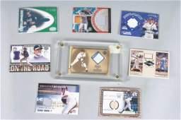 112 8 MLB Game Used Bat Jersey Glove Insert Cards
