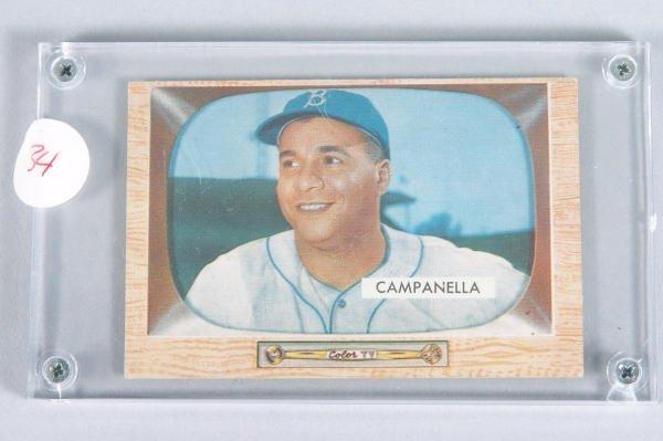 117: 1955 Roy Campanella Bowman Baseball Card #22