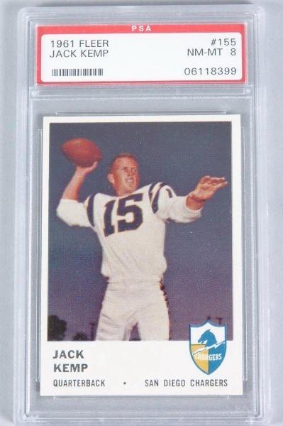 118: Chargers Jack Kemp Fleer Card 1961 #155