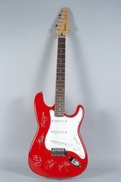 233: AC/DC Band Autographed Electric Guitar