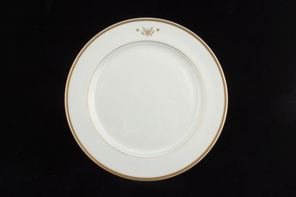 9: John F. Kennedy Dinner Plate From Honey Fitz Yacht