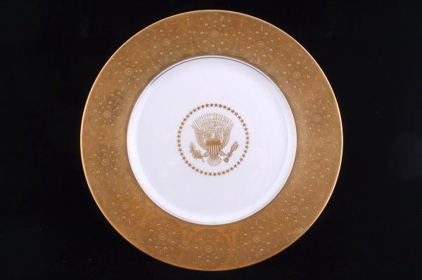 14: Dwight D. Eisenhower White House Service Plate