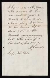 31: Abraham Lincoln Autographed Manly Man Endorsement