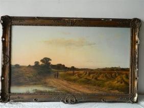 British Landscape Harvesting Unsigned