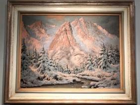 Snow Scene by Laszlo Neogrady 1861- 1942