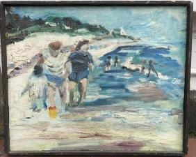 Beach Scene by Henry C. Klimowizz