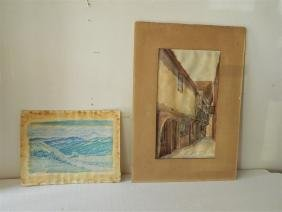 Lot - Two Watercolors