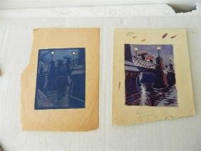 w/c and Woodcut attr. To Margaret Patterson