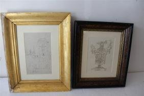 Two Framed Drawings
