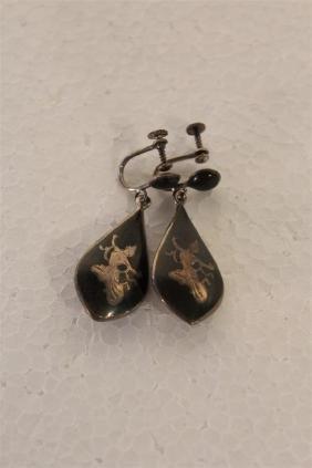 Sterling Siam Earrings