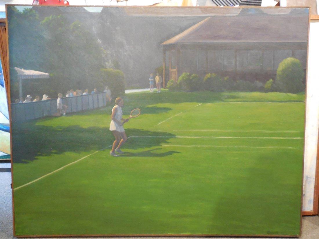 Tennis Match by Michael Dwyer