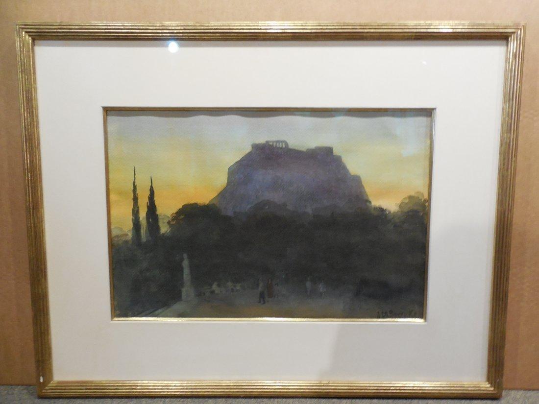 """Acopolis at Sunset"" by Johanna M. Boericke"