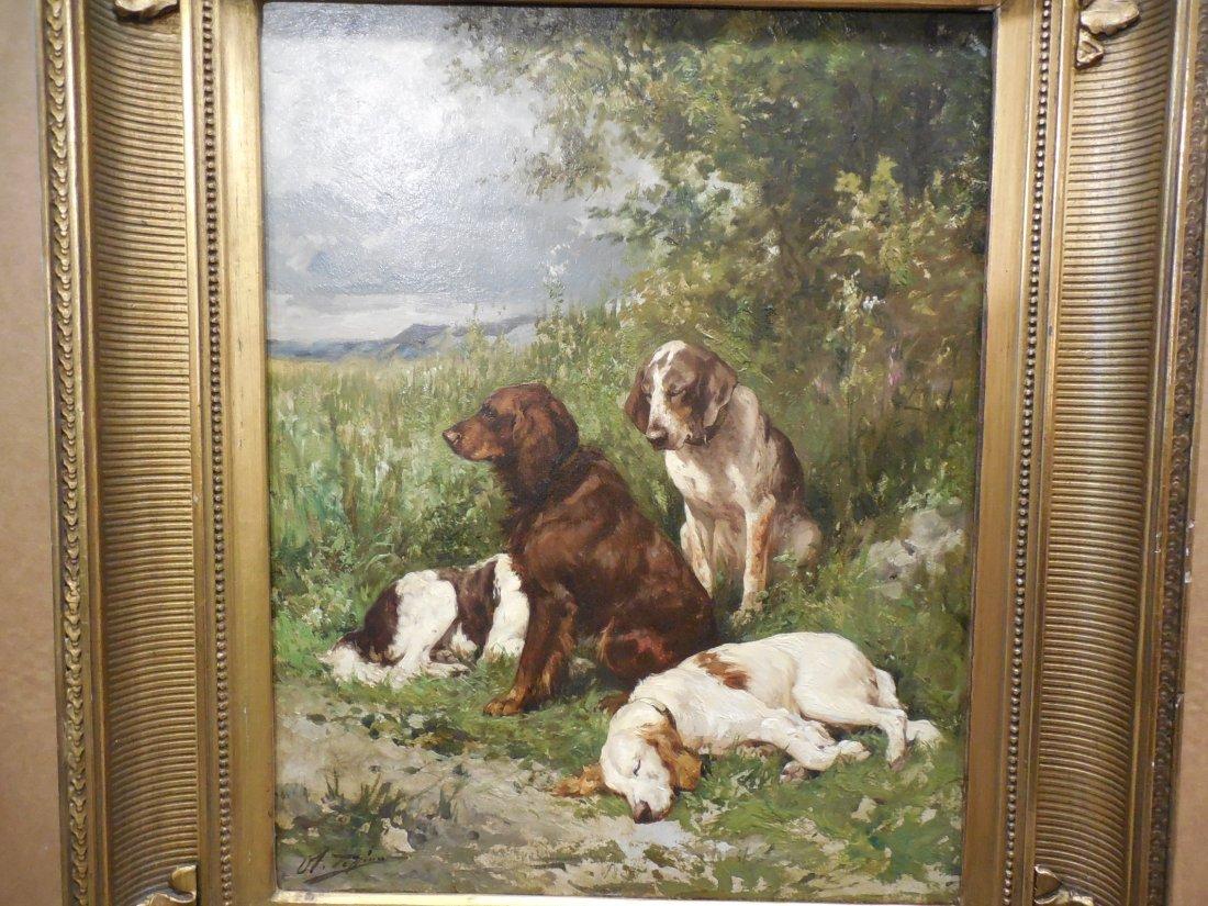 Gun Dogs Resting by Olivier de Penne - 2