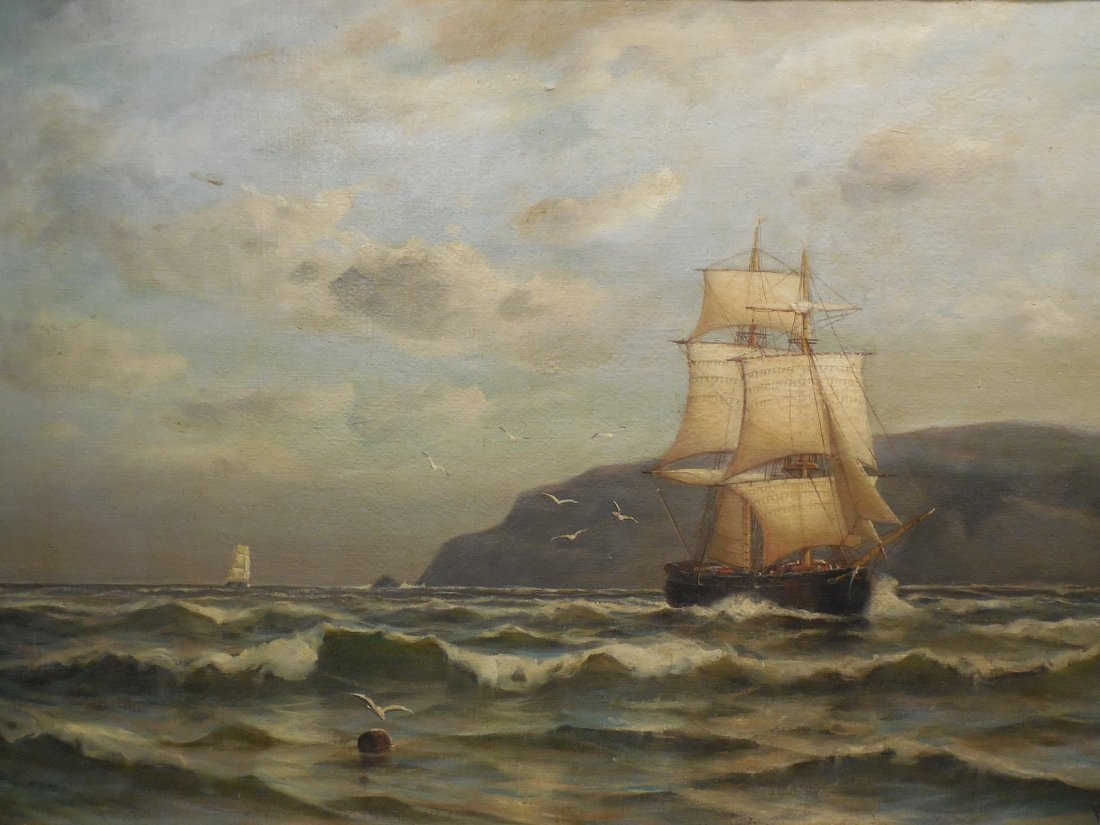 Marine Scene with Sailboats by Robert Pearson - 2